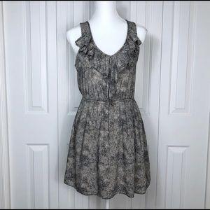 BCBG Ruffle Neck Mini Dress Small